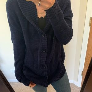 Blue Express Button Down Cardigan Sweater